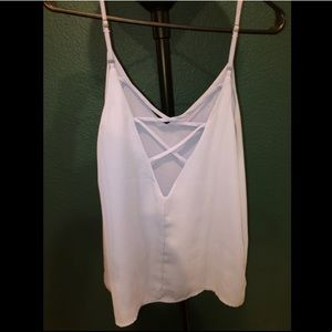 Forever 21 periwinkle criss-cross tank top